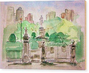 Boston Public Gardens Wood Print