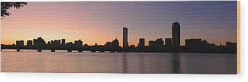Boston Skyline Wood Print by Juergen Roth