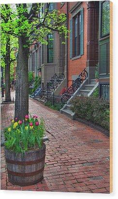 Boston South End Row Houses Wood Print by Joann Vitali