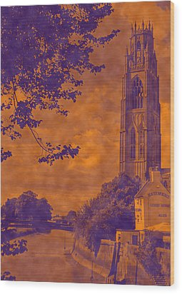 Boston Stump - Old Style Wood Print by Dave Parrott