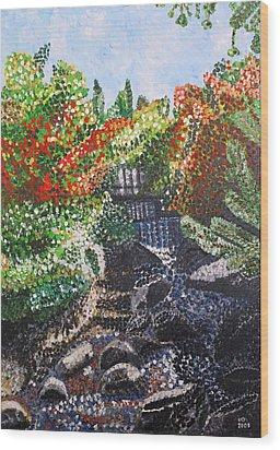 Botanic Garden Merano 1 Wood Print by Valerie Ornstein