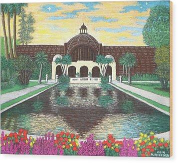 Botanical Building In Balboa Park 01 Wood Print
