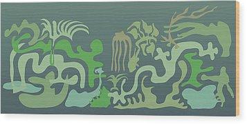 Botaniscribble Wood Print