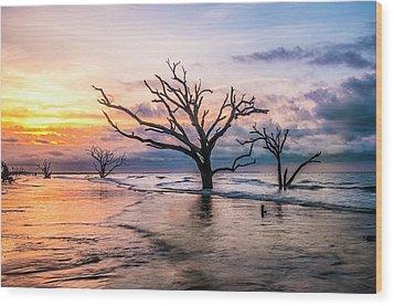 Botany Bay Dawn Wood Print by Phyllis Peterson