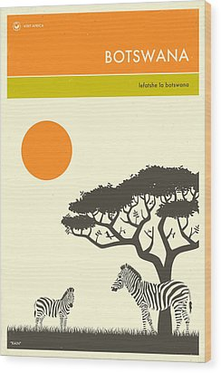 Botswana Travel Poster Wood Print