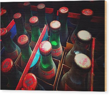 Wood Print featuring the photograph Bottle Necks by Olivier Calas