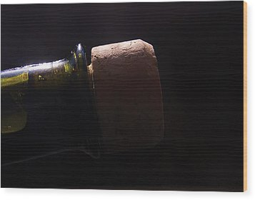 bottle top and Cork Wood Print by Steve Somerville