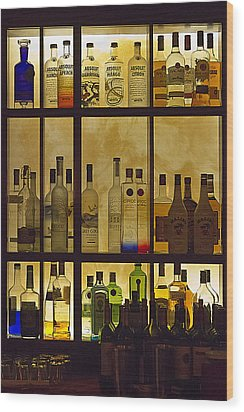Wood Print featuring the photograph Bottle Works by Ron Dubin