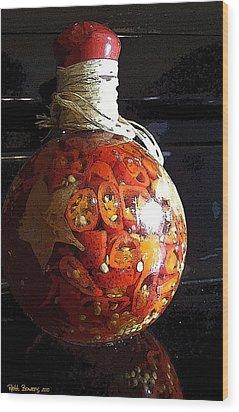 Bottled Fire Wood Print