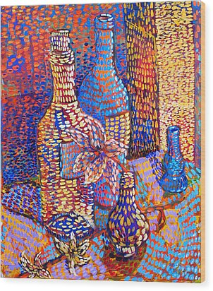 Bottles And Vases Wood Print by Rollin Kocsis