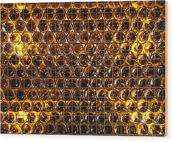 Bottles Of Beer On The Wall Wood Print
