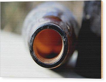 Bottom Of The Bottle Wood Print by Alexandra Harrell