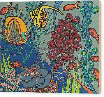 Bottom Of The Sea Wood Print by Molly Williams