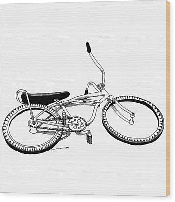 Bottom Up Bike Wood Print by Karl Addison