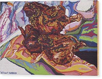 Boucherie Hamdane Freres II Wood Print by Robert SORENSEN