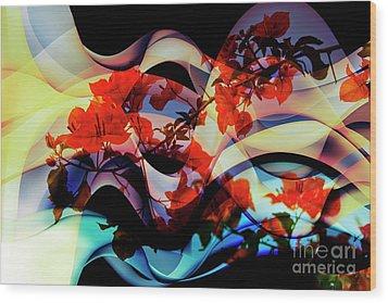 Wood Print featuring the photograph Bougainvillea At Joe's Secret Garden IIi by Al Bourassa