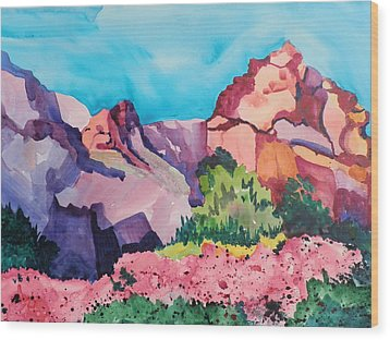 Bougainvillea In The Mountains Wood Print