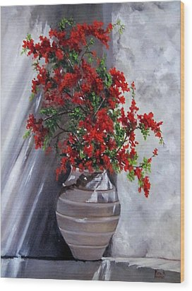 Bougainvillia Wood Print by Katia Aho