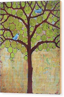 Boughs In Leaf Tree Wood Print by Blenda Studio