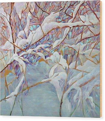 Wood Print featuring the painting Boughs In Winter by Joanne Smoley