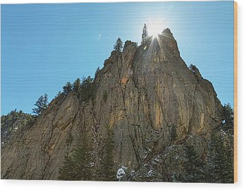 Wood Print featuring the photograph Boulder Canyon Narrows Pinnacle by James BO Insogna