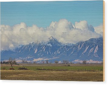 Wood Print featuring the photograph Boulder Colorado Front Range Cloud Pile On by James BO Insogna