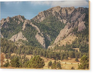 Wood Print featuring the photograph Boulder Colorado Rocky Mountain Foothills by James BO Insogna