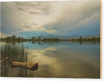 Wood Print featuring the photograph Boulder County Colorado Calm Before The Storm by James BO Insogna