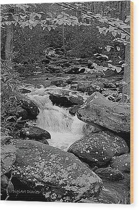 Boulder Creek Wood Print by DigiArt Diaries by Vicky B Fuller