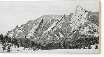 Boulder Flatirons Colorado 1 Wood Print by Marilyn Hunt