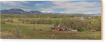 Wood Print featuring the photograph Boulder Louisville Lafayette Colorado Front Range Panorama by James BO Insogna