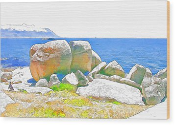 Boulders 4 Wood Print by Jan Hattingh