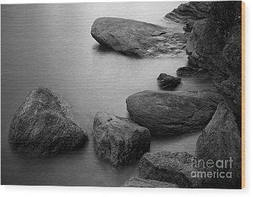 Boulders Wood Print by Idaho Scenic Images Linda Lantzy