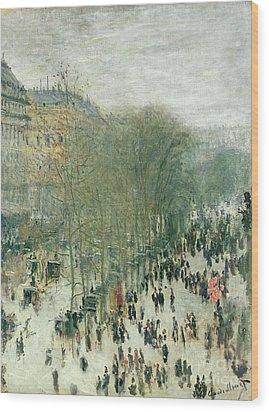 Boulevard Des Capucines Wood Print by Claude Monet