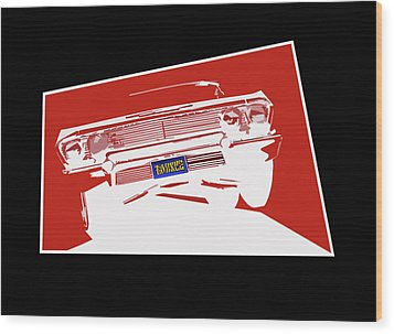 Bounce. '63 Impala Lowrider. Wood Print by MOTORVATE STUDIO Colin Tresadern