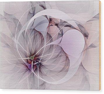 Wood Print featuring the digital art Bound Away - Fractal Art by NirvanaBlues