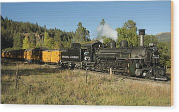 Bound For Durango Wood Print by Jerry McElroy