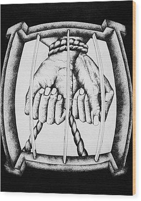 Bound Wood Print by Omphemetse Olesitse
