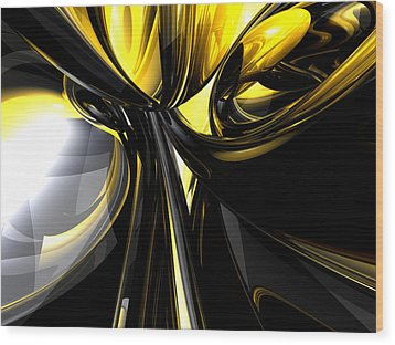 Bounded By Light Abstract Wood Print by Alexander Butler