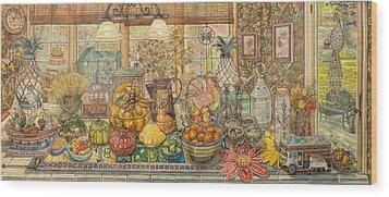 Bountiful Harvest Wood Print by Bonnie Siracusa
