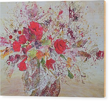 Wood Print featuring the painting Bouquet Desjours by Joanne Smoley