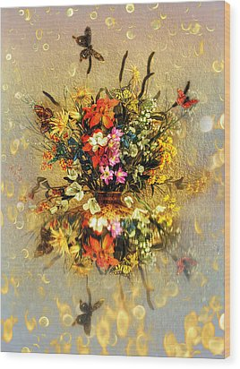 Wood Print featuring the photograph Bouquet  by Gouzel -