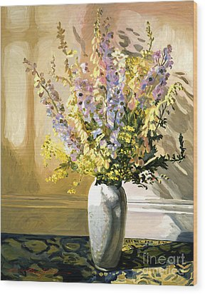 Bouquet Impressions Wood Print by David Lloyd Glover