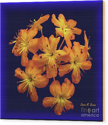 Wood Print featuring the digital art Bouquet In A Box by Donna Brown