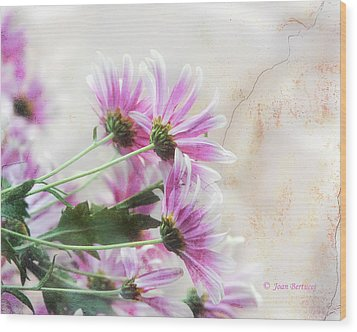 Wood Print featuring the photograph Bouquet In Pink by Joan Bertucci