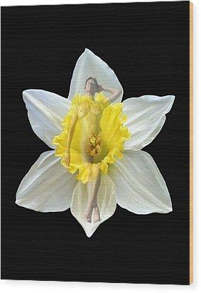 Bouquet Wood Print by Kurt Van Wagner