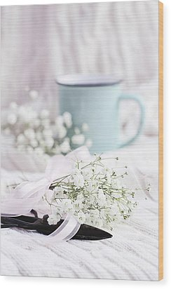 Wood Print featuring the photograph Bouquet Of Baby's Breath by Stephanie Frey