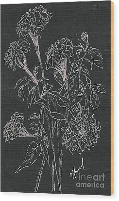 Wood Print featuring the painting Bouquet Of Flowers  by Vicki  Housel