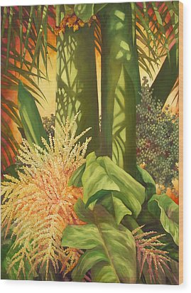 Bouquet Of Palm Wood Print by Monica Linville