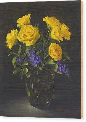 Bouquet Of Sunshine Wood Print